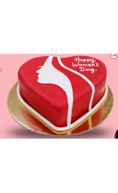 Heart Shape Woman's Day Cake