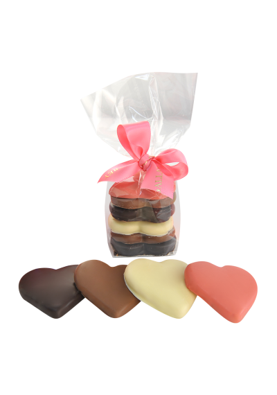 Assorted Heart Cookies in Sachet