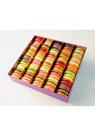Colorful Macaron Gift Box-50 pieces of assorted macarons