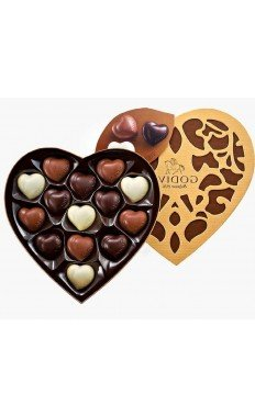 Godiva Coeur Large Selection 14 PC