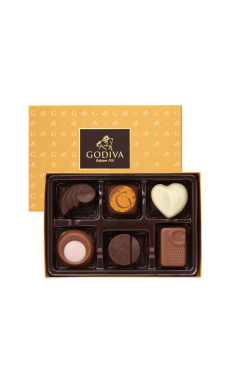 Gold Discovery Box By Godiva (6 pieces)