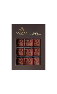 Godiva Dark Chocolate Carres