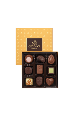 Assorted Chocolate Gold Gift Box