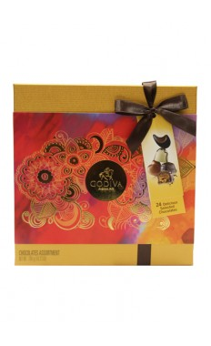 Gold Rigid Chocolate Box 24 PCES