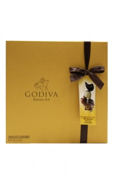 Gold Rigid Chocolate Box 34 Pc