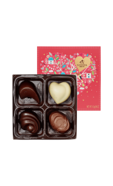Valentine's 4 Pieces Godiva Chocolate Gift Box