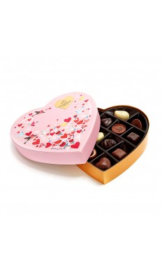 Valentine's Day Paper Heart Chocolate Gift Box,14 pc