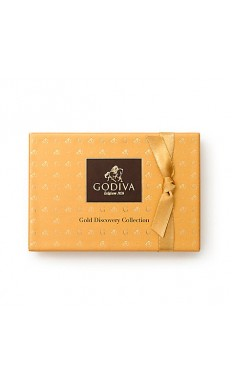 Gold Rigid Chocolate Box 6 PC