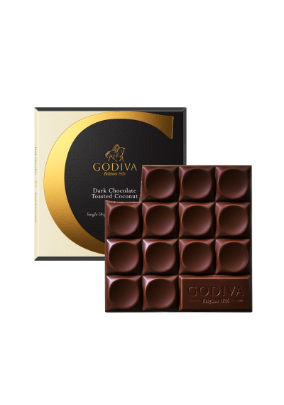 Dark Chocolate & Toasted Coconut Tablet By Godiva