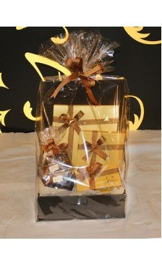 Brown Hamper Box by Vintage Chocolate