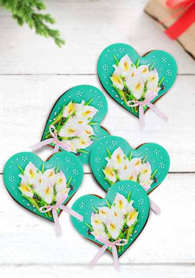 Heart Flower Cookies