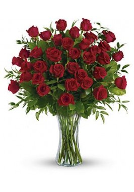 3 Dozen Long  Stemmed Red Roses