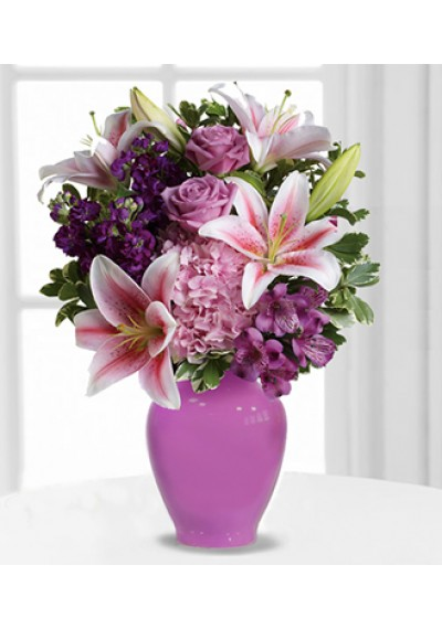 Blush Violet Flowers Bouquet