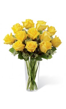 Dozen Yellow Rose Bouquet