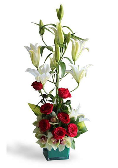 Luxury Lily Cymbidium & Rose