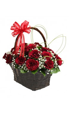Basket Of Red Rose