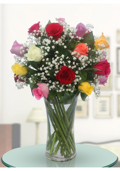 25 Assorted Roses Arrangement