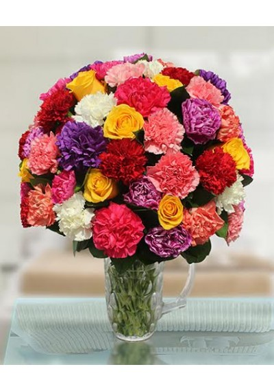 Rainbow Carnation Bouquet