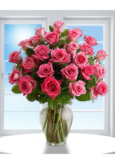 Rose Elegance Pink Long Stem Roses