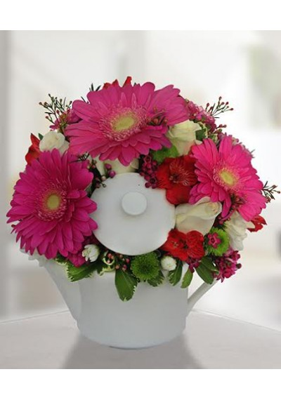 Teapot Flower Arrangement
