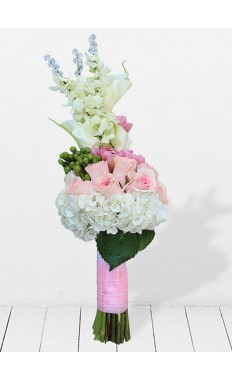 Pink White Bridal Hand Tied