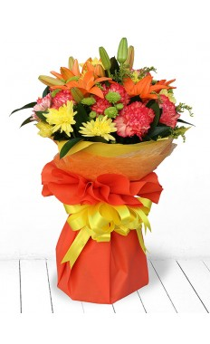 Orange Delight Hand Tied