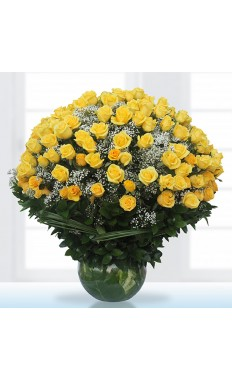 200 Yellow Roses Bouquet