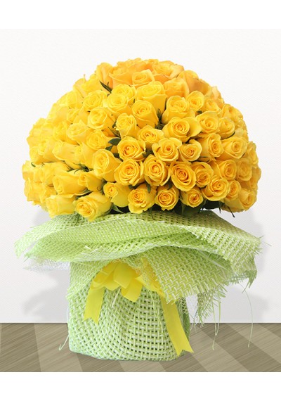 150 Yellow Roses