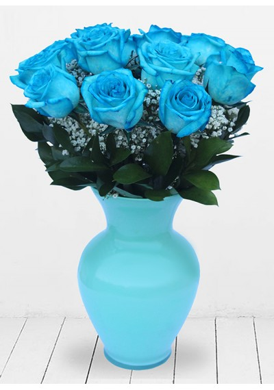 Magnificent Blue Dozen Roses