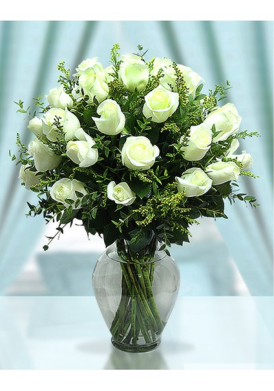 Forever Much-loved 30 Long Stemmed-White Roses