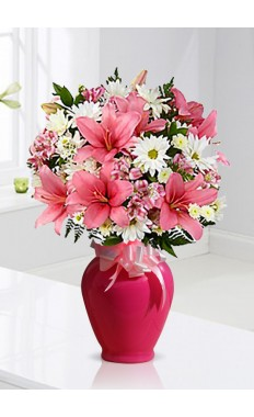 Presence of Pink Mixed Bouquet