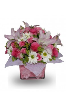 Pink Rose & Pink Lilly Bouquet