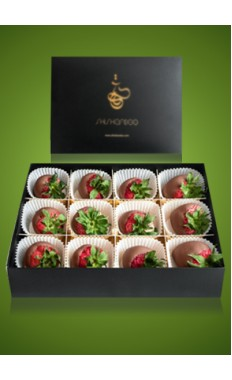 Strawberries Milk Chocolate Box