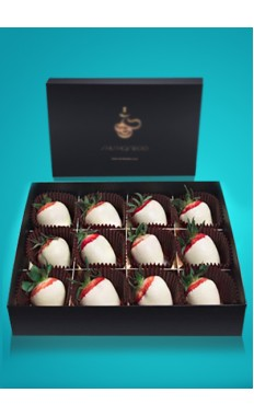 Strawberries White Chocolate Box