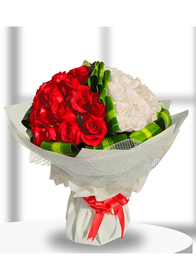 Luxury Red & White  Hand-tied