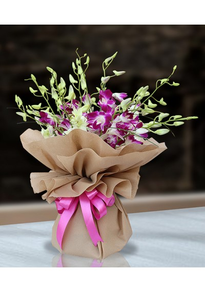 Tenderness Orchids Hand Tied