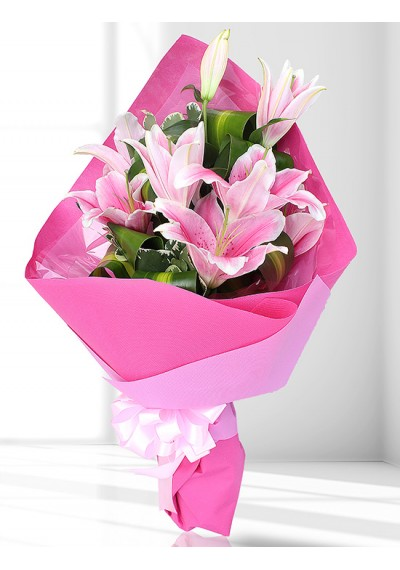 Devoted Infatuation Bouquet (Pink)
