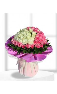 splendid pink & white Bouquet