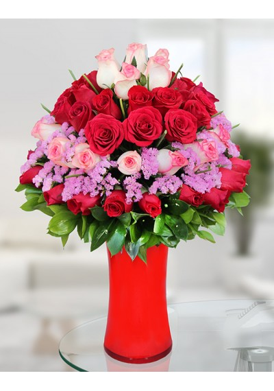 Pink and Red Elegant Bouquet