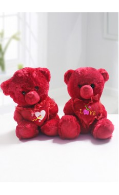Red Love Teddy with Red Heart