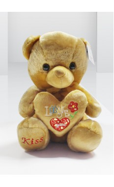 Brown Heart Teddy With Love