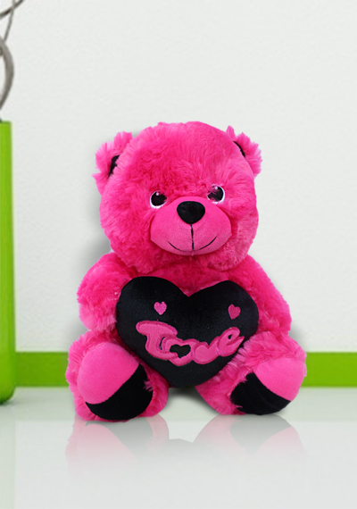Pink Teddy With Love Heart