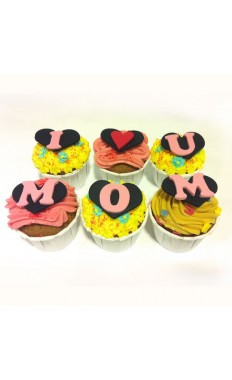 I Love you Mom Cupcakes 2