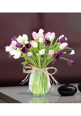 Mixed Tulips Decency Bouquet