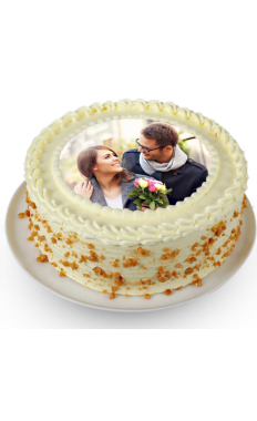 Tempting Butter Scotch Picture Cake