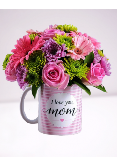 Mother's Day Mug with Pink Rose