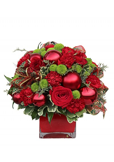 Square Christmas Bouquet