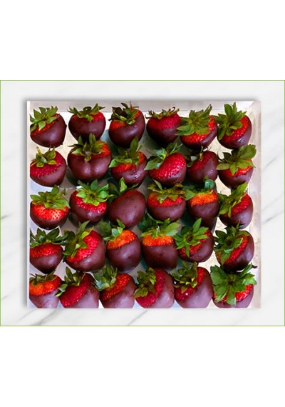 Strawberry Dipped Acrylic Box