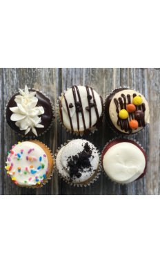 Mixed Six Cupcakes