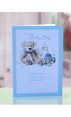 You have a baby boy Greeting Card